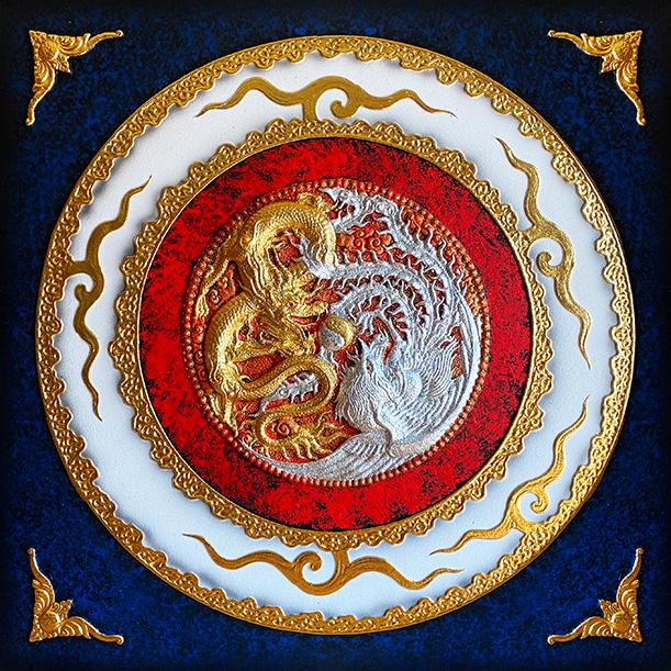 dragon phoenix dragon painting dragon and phoenix dragon artwork chinese dragon painting dragon wall art chinese dragon and phoenix