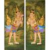 kinnara kinnari kinnaree thai art thai painting thai artist thai artwork thai wall art traditional thai