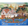 buddhist thai temple painting folk art thai art thai painting thai artist thai artwork thai wall art traditional thai