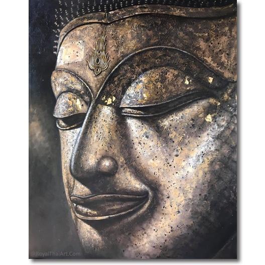buddha head painting buddha head wall art gautam buddha face painting buddha head art buddha head drawing buddha face painitng royal thai art