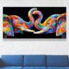 buy colorful elephant painting elephant painting elephant art elephant wall decor elephant canvas elephant artwork elephant canvas painting