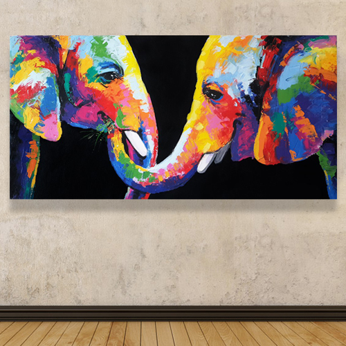 buy colorful elephant wall art elephant painting elephant art elephant wall decor elephant canvas elephant artwork elephant canvas painting