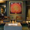 buddhist tree canvas art