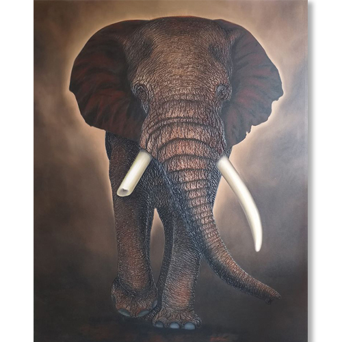 3D elephant wall art elephant painting elephant canvas painting famous elephant painting elephant art paintings elephant painting with trunk 3d elephant wall decor