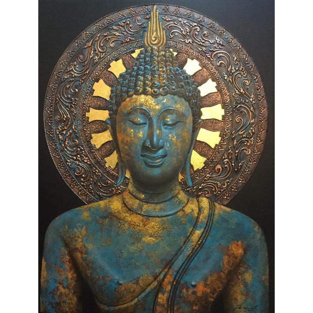turquoise buddha canvas buddha painting buddha wall art buddha face painting buddha acrylic painting buddha paintings images gautam buddha portrait