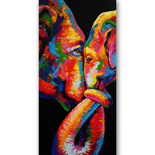 elephant art canvas colorful elephant painting elephant acrylic painting cute elephant painting elephant gallery elephant pictures for sale