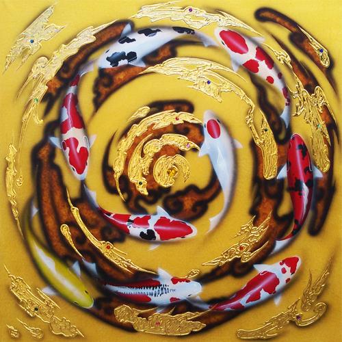 lucky koi fish painting koi fish painting koi painting koi pond painting koi fish acrylic painting koi fish artwork
