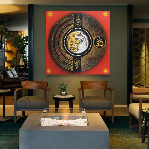 Dragon And Phoenix Painting Original Asian Art For Sale L Royal