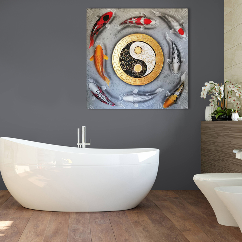 koi fish artwork for home koi fish wall art home decor koi fish paintings on canvas Japanese koi painting