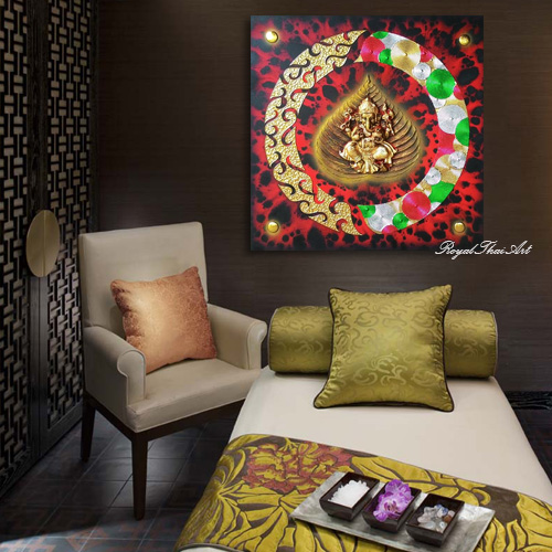 Om Ganesha 3D Resin Painting for Sale Online
