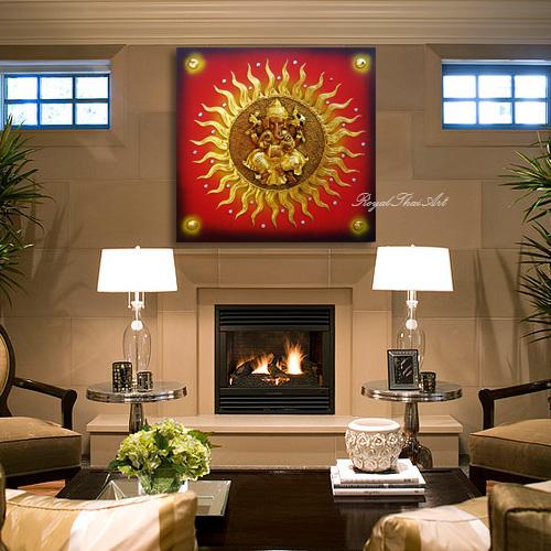 Ganesh God 3D Resin Painting For Sale Online