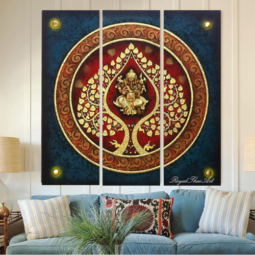 Ganesha Elephant 3D Resin Painting for Sale Online