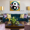 love koi painting feng shui yin yang canvas art for sale