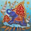 blue elephant thai painting elephant painting elephant art elephant wall decor elephant canvas elephant artwork