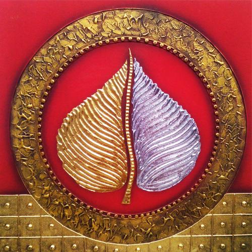 gold silver bodhi leaf bodhi tree buddha tree buddha bodhi tree buddha enlightenment tree bodhi tree painting buddha tree painting