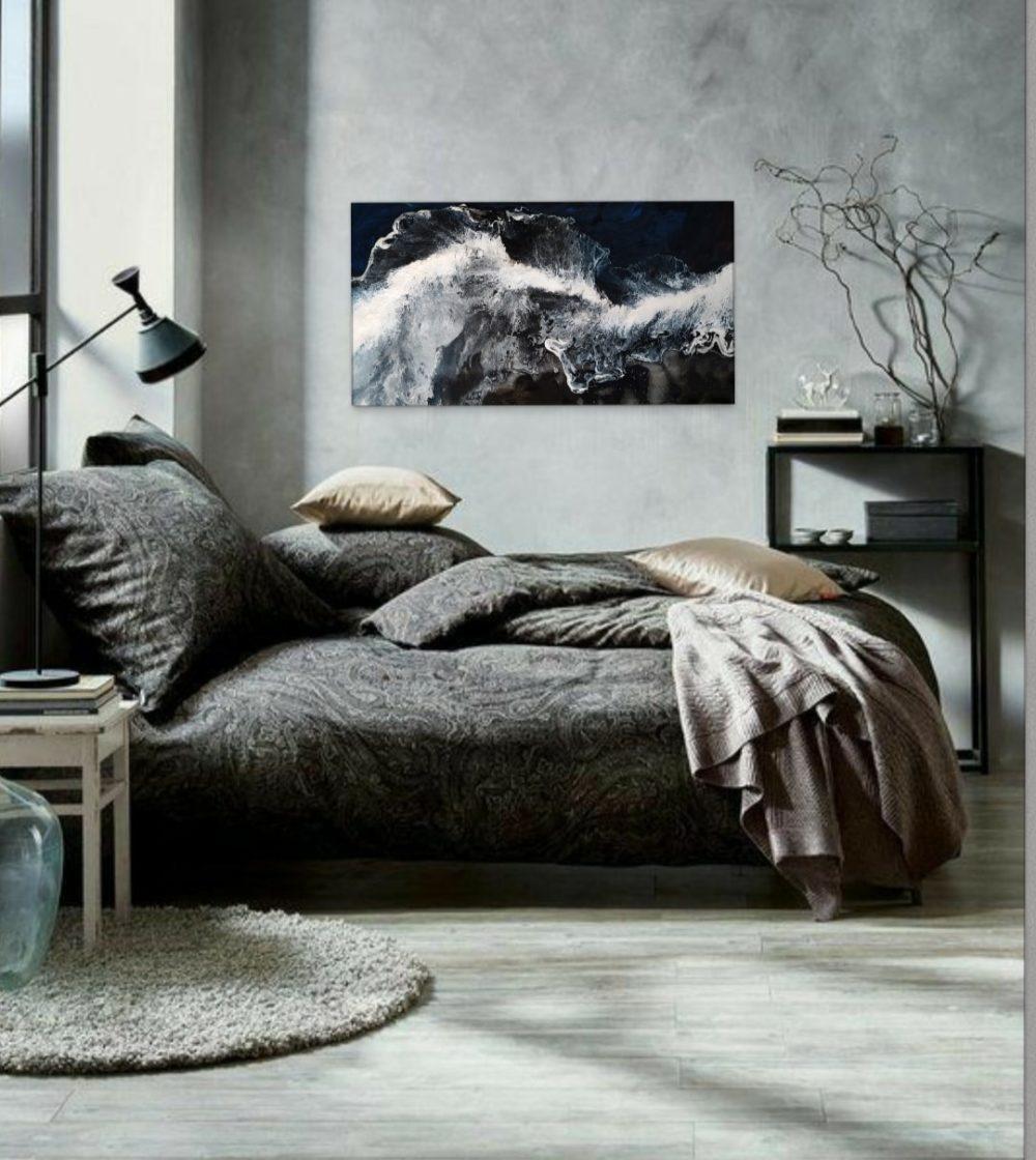 abstract art home interior