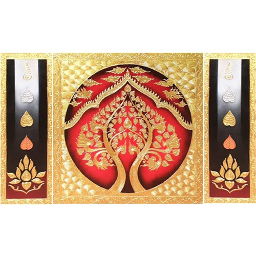 golden bodhi tree painting buddha tree painting bodhi tree wall art bodhi tree artwork