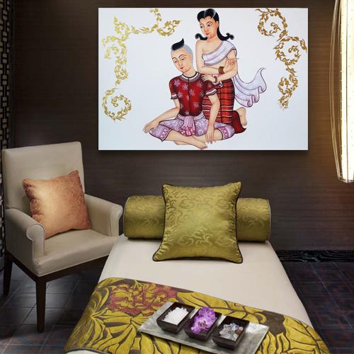 siam thai massage painting