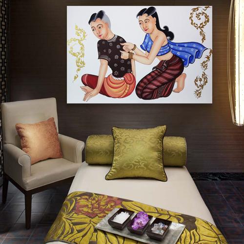 traditional thai massage painting