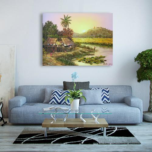 thai village painting online