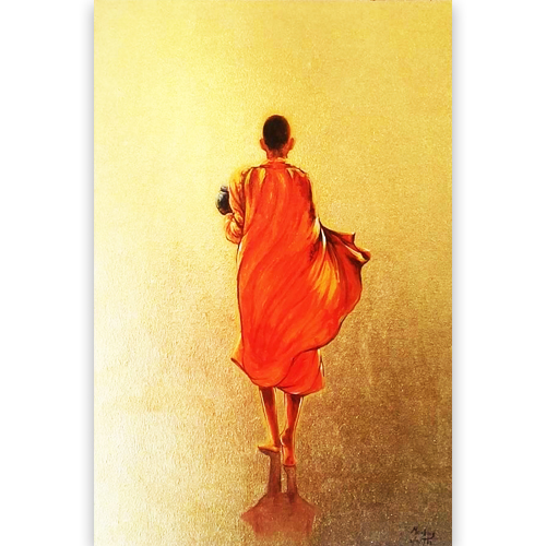 walking monk painting buddhist painting monk painting buddhist monk painting monk art zen buddhist painting buddhist art for sale buddha paintings online