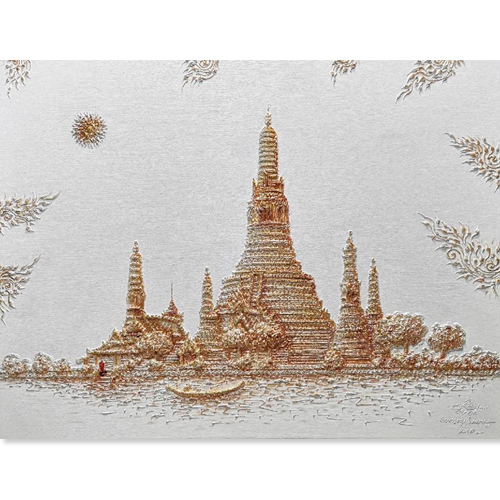 wat arun ratchawararam painting wat arun temple wat arun painting acrylic canvas art paintings online thailand art traditional thai paintings thai pattern art