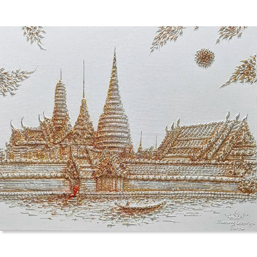 wat phra kaew painting temple of the emerald buddha painting emerald buddha temple painting thai art thai painting traditional thai paintings thailand art