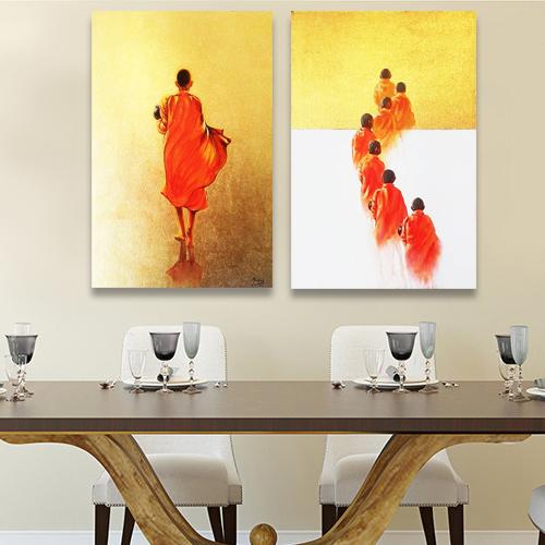 monk painting thaland wall art