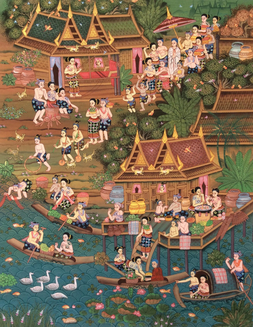 Buddhist Ordination Ceremony Painting