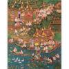 buddhist ordination ceremony thai monks thai art thai painting thai artwork thai wall art thai folk art thai art for sale online thai paintings for sale