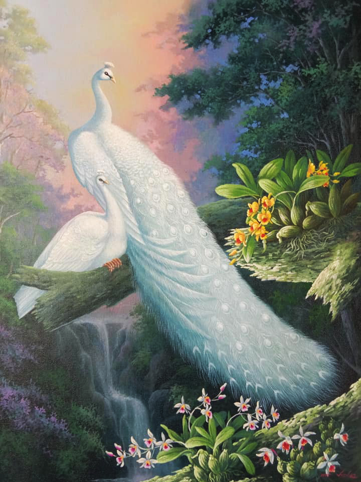 famous peacock paintings