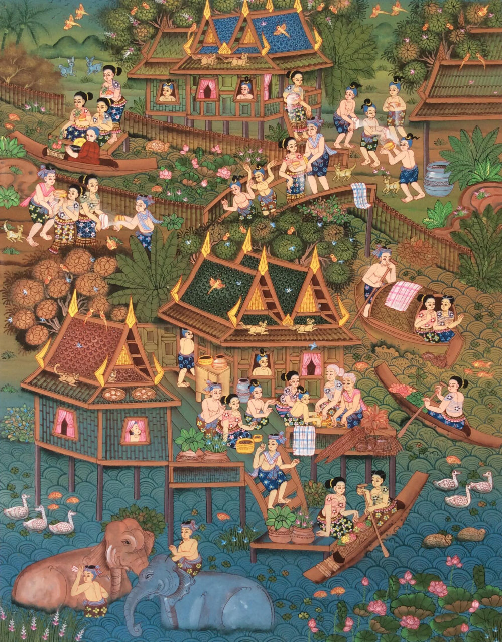 songkran art thai art for sale