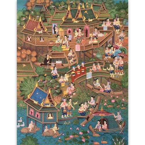 thai culture painting thailand lifestyle thai art thai painting thai artwork thai wall art thai folk art thai art for sale online thai paintings for sale