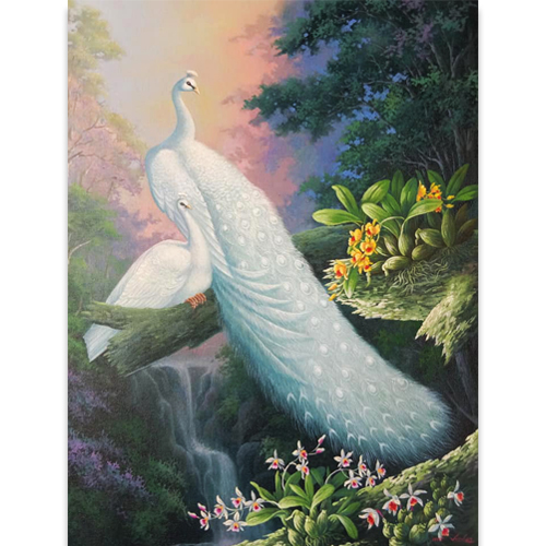 white peacock painting for sale peacock wall art peacock artwork peacock canvas painting peacock oil painting peacock canvas wall art