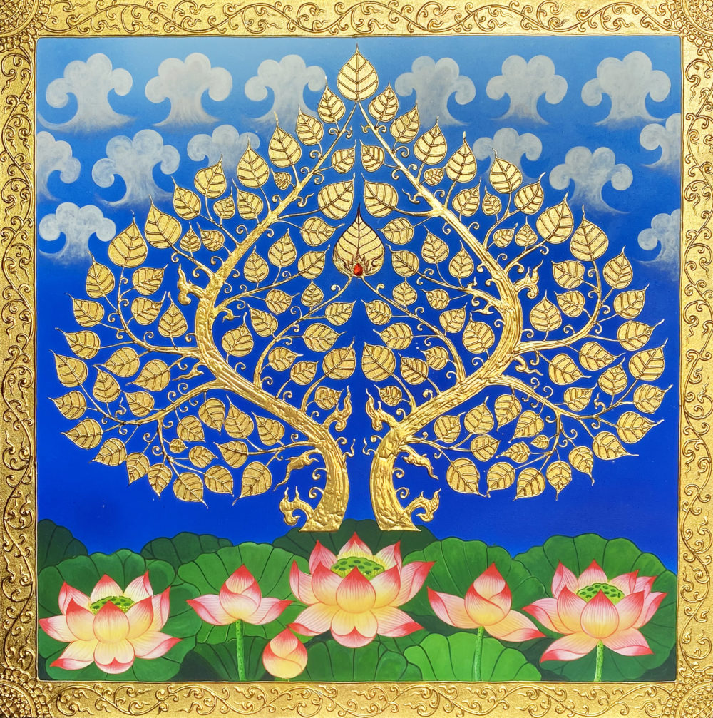 bodhi tree asian art for sale