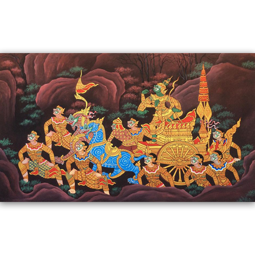 thotsakan ravana thai painting thai artwork thai wall art traditional thai art thailand wall art thai artist thai paintings online thai art gallery
