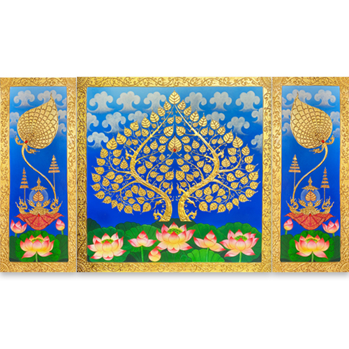 bodhi tree original art bodhi tree painting bodhi tree art asian art asian painting asian wall art asian wall decor south asian art