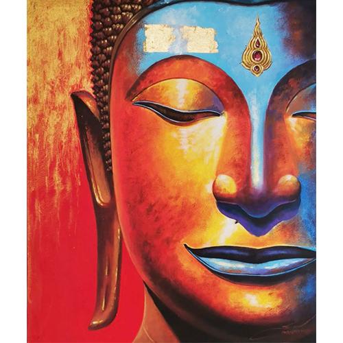 half face buddha art buddha painting buddha wall art buddha artwork buddha face painting buddha face art buddha half face painting half face buddha painting
