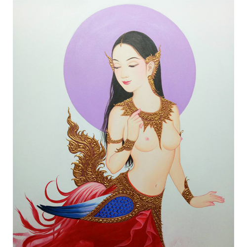 kinnari thai art kinnaree thailand art thai painting buy art online thailand original art online thai artist thai artwork thai wall art thai art for sale