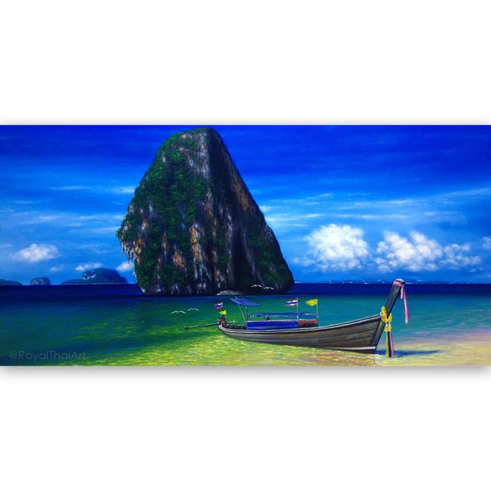 long tail boat thailand long tail boat art longtail boat art thai longtail boats painting oil paintings for sale original oil paintings for sale