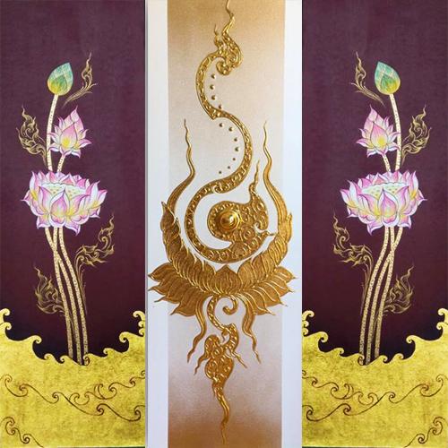 lotus 3 piece canvas art lotus paintings by famous artists lotus painting bangkok lotus flower oil paintings lotus painting on canvas pink lotus painting lotus flower painting