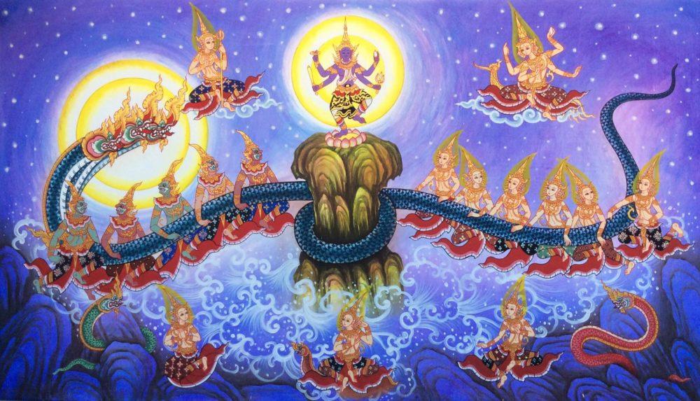 samudra manthan thai art