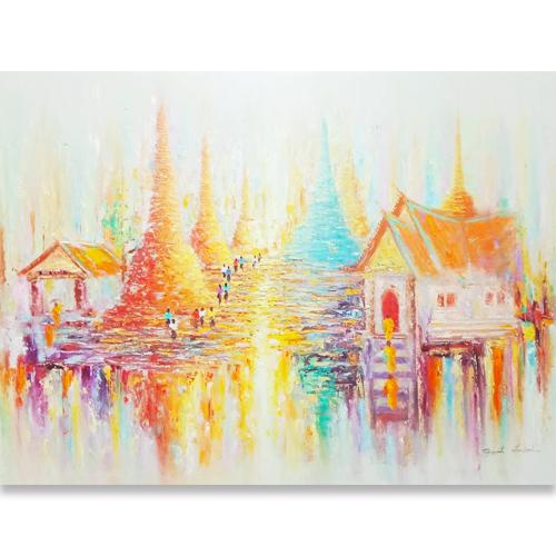 pagoda art pagoda painting thai pagoda painting thailand pagoda thai temple oil painting thai buddhist temple oil painting buddhist temple oil painting