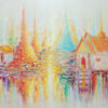 thailand pagoda oil paintings for sale