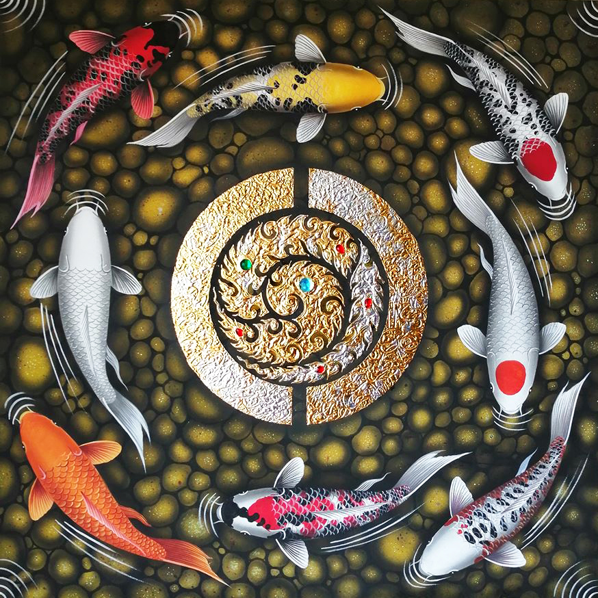 famous koi fish painting