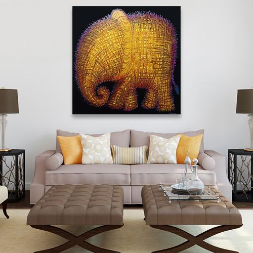 cute elephant art home decor
