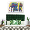 elephant family painting home decor