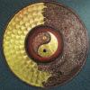 gold yin yang dragon art