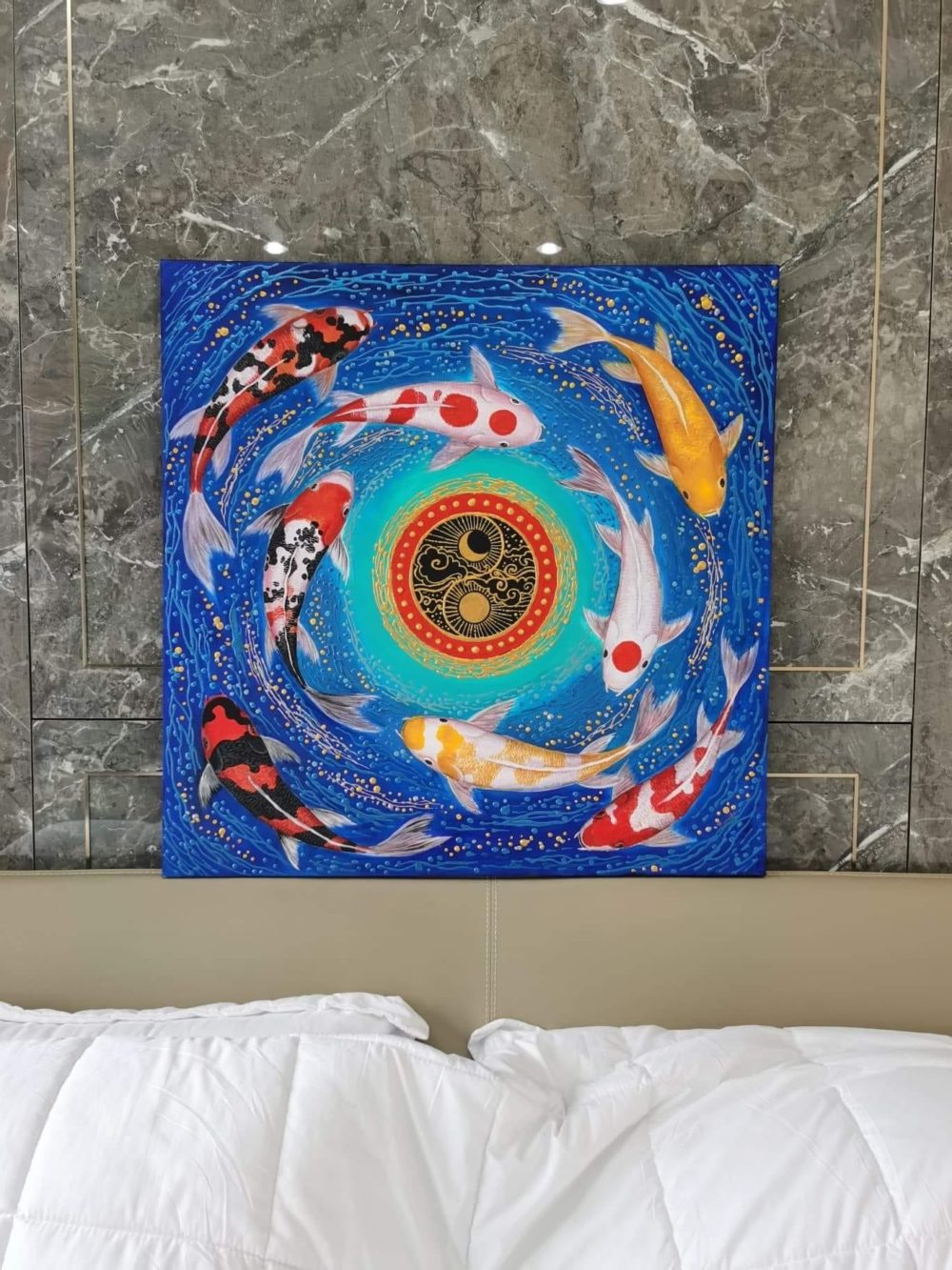 koi fish painting thailand