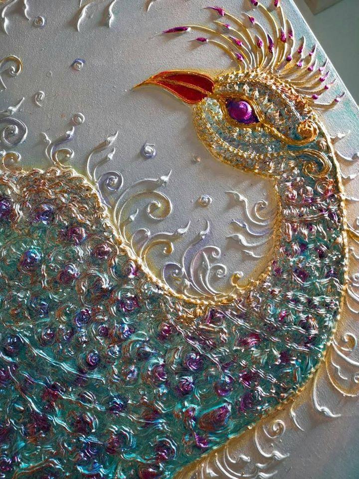 peacock painting art